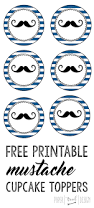 Mustache Home Decor Free Printable Mustache Cupcake Toppers Mustache Cupcakes Free