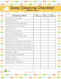 how to clean a bathroom checklist bathroom deep cleaning list