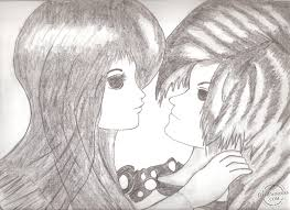 sketch of love couple pencil drawing collection