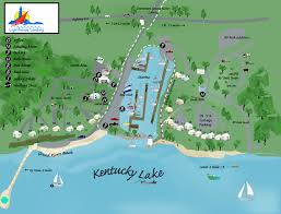 map kentucky lakes rivers lighthouse landing marina resort