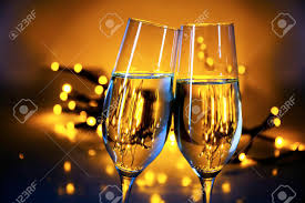 new years chagne flutes two chagne flutes clink glasses at christmas or new year s