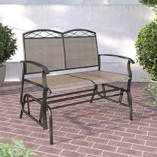 Outdoor Glider Rocker by Crosley Bates Metal Outdoor 5 Ft Glider Sofa Hayneedle