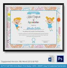 kids certificate template 14 pdf psd vector format download