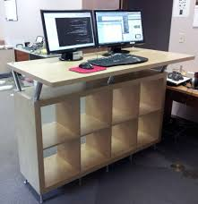 Standing Reception Desk Extraordinary Ikea Standing Desk Twuzzer L Shaped Reception Desk