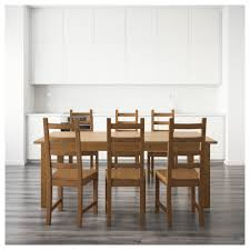 pine chairs kaustby stornäs table and 6 chairs antique stain 201 cm ikea