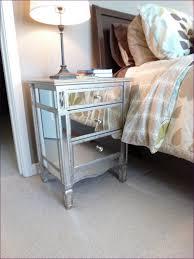 bedroom amazing mirrored 3 drawer side table light oak