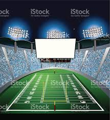 how tall are football stadium lights football stadium jumbotron large scale screen stock vector art