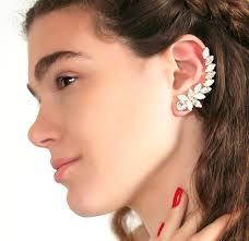 ear cuff ear cuff earringswhite opal climbing cuff earrings swarovski
