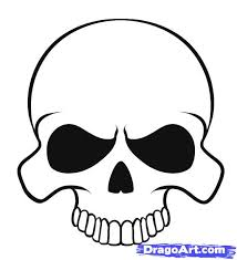easy to draw skulls how to draw a easy skull 8 for