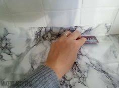 Diy Kitchen Countertop Ideas by Diy Super Cheap Easy Marble Look Counters Done With Contact Paper