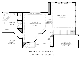 Master Suite Floor Plan Toll Brothers At Flatiron Meadows The Vistas The Bella Home Design