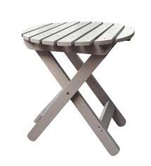 Polywood Patio Furniture Outlet by Shineco Outdoor Round Folding Adirondack Side Table In Taupe Gray