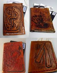 Business Card Credit Flaquito Leather U2014 Custom Hand Tooled Leather Minimalist Front