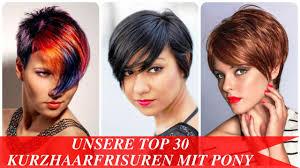 Kurzhaarfrisuren Pony by Unsere Top 30 Kurzhaarfrisuren Mit Pony