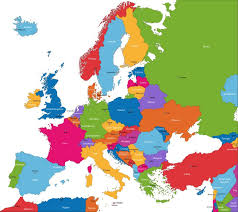mapa europe colorful europe map with countries and capital cities wall mural