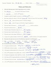 conversion examples chemistry dimensional analysis worksheet
