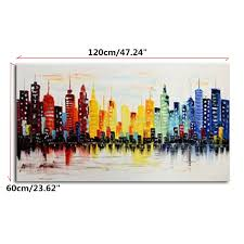 Modern City 120x60cm Modern City Canvas Abstract Painting Print Living Room