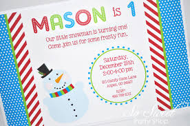 Winter Onederland Party Decorations Snowman Birthday Invitations Winter Onederland Birthday Party