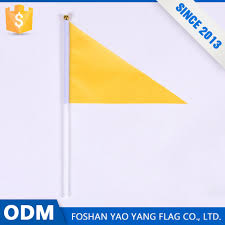 Flag Triangle Custom Polyester Fabric Tour Guide Flag Hand Triangle Flag With