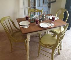 Chalk Paint Table And Chairs Kitchen Table Fabulous Kitchen Chairs Cream Painted Dining Table