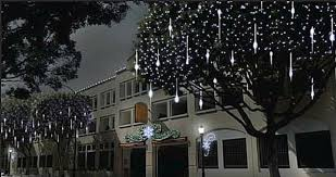 falling snowflake christmas lights 240 led snow shower icicle lights christmas outdoor decorations