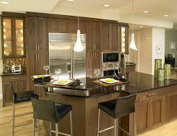 Contemporary Walnut Kitchen Cabinets - dishy walnut kitchen cabinets with ceiling lighting island