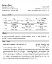 Sample Resume For Freshers Engineers Computer Science by 22 Modern Fresher Resume Templates Free U0026 Premium Templates