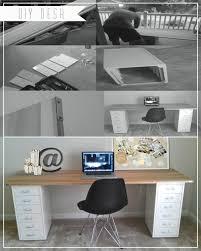 Home Depot Computer Desks Diy Desk Poplar Wood Metal Corner Brackets From Home Depot
