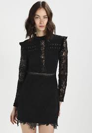 black dress uk endless dress with eyelet details and lace insets cocktail