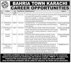 bahria town jobs at karachi 2017 2017 jobs pakistan jobz pk