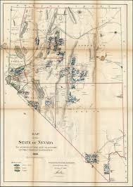 map of nevada map of the state of nevada 1866 modern map of nevada
