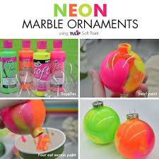 how to make neon marble ornaments hometalk