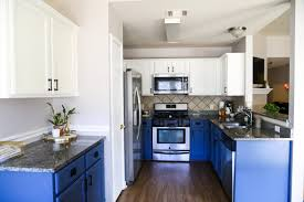 Painting Interior Of Kitchen Cabinets Blue U0026 White Kitchen Cabinets Love U0026 Renovations