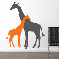 Giraffe Wall Decals For Nursery Giraffe Wall Decal Picture Design Idea And Decorations
