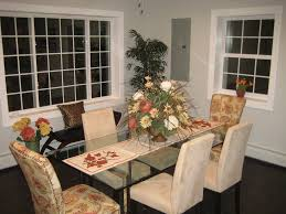 Dining Room Staging Transitional With Hanging Chain - Dining room staging