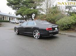 custom bentley 4 door flying spur savini wheels