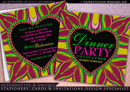 Dinner Party Invitations Bohemian Dinner Party Invitations Partyinvitecards The Best