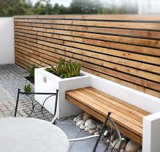 outdoor wood wall modern wood bench soappculture