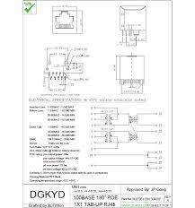 view layout alloy customized single port vertical rj45 modular jack pcb mount poe
