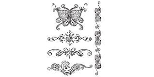 henna butterfly swirls temporary 90 hen 14003