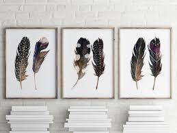 feather home decor watercolor art boho print feather print printable art