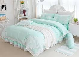Green Duvet Cover King Bedroom Best 25 Mint Green Bedding Ideas On Pinterest Blue Room