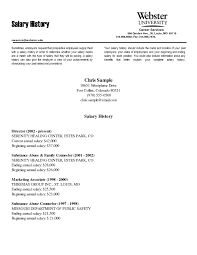 Resume Ending Sample by Salary History On Resume Free Resume Example And Writing Download