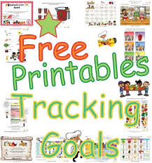 print free healthy goals tracking sheets kids print goal
