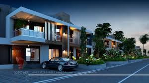 Row Houses Elevation - 3d township walkthrough u2013 3d power