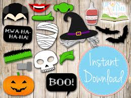 halloween bday party ideas free printable birthday party photo booth props ideas mh