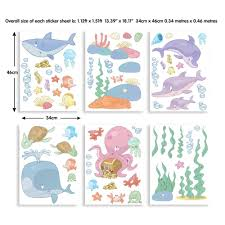 walltastic green dinosaur wall stickers wt45026 the home depot multi color baby under the sea wall stickers
