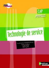 technologie cuisine cap technologie de service cap restaurant livre de l élève