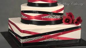 black and red wedding cake square wedding cake red youtube