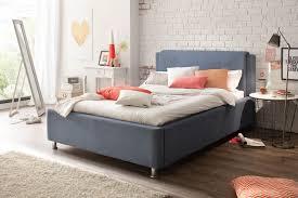 Schlafzimmerm El Disselkamp Meise Polsterbett El Paso Mocca In Blau Mit Lattenrost Und